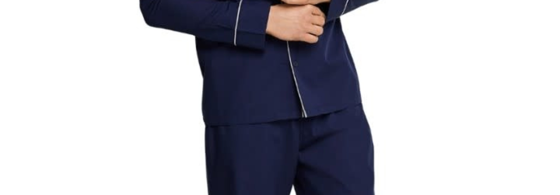Pyjama met knopen lange mouw 163702