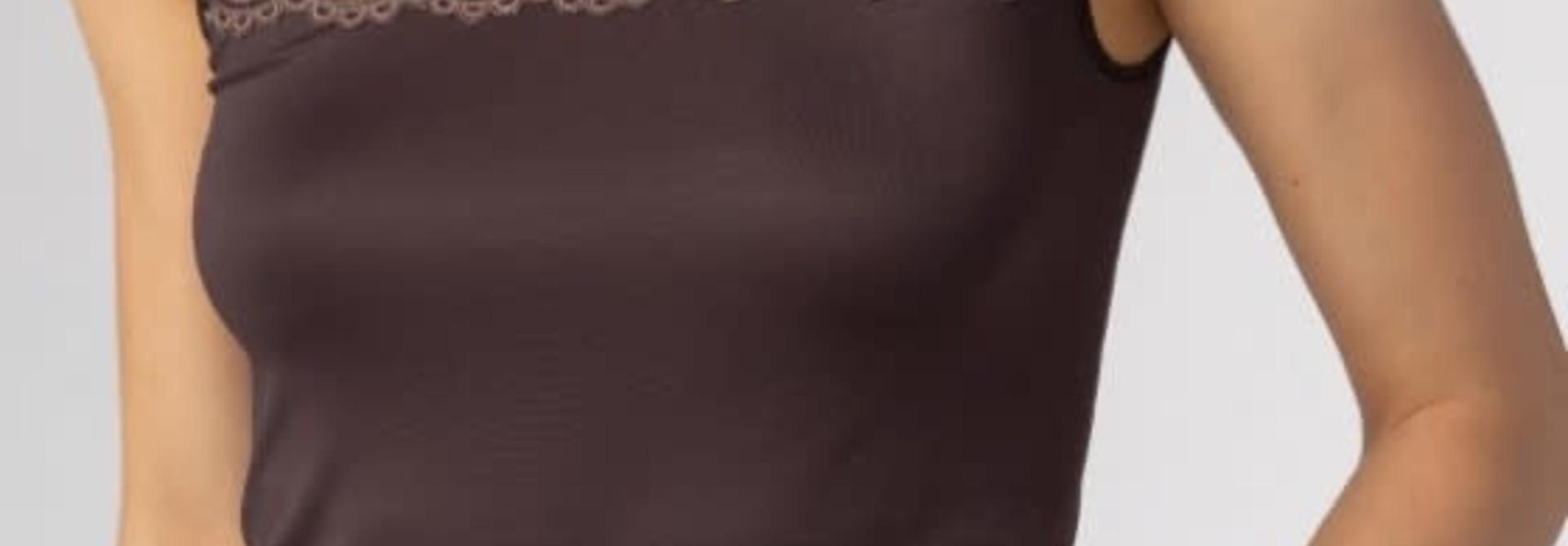 Hemd met kant Emotion 55104 - bruin