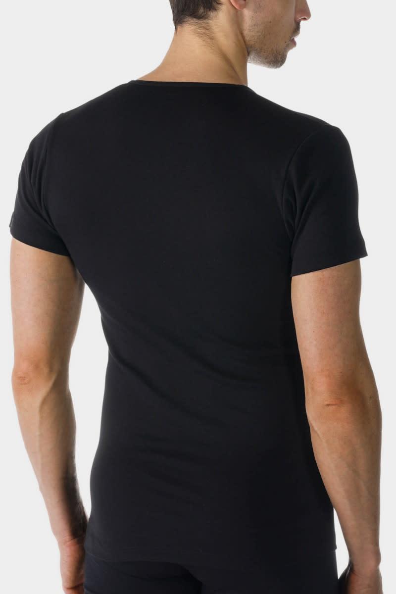 T-shirt v-hals Casual Cotton 49107 - zwart-2