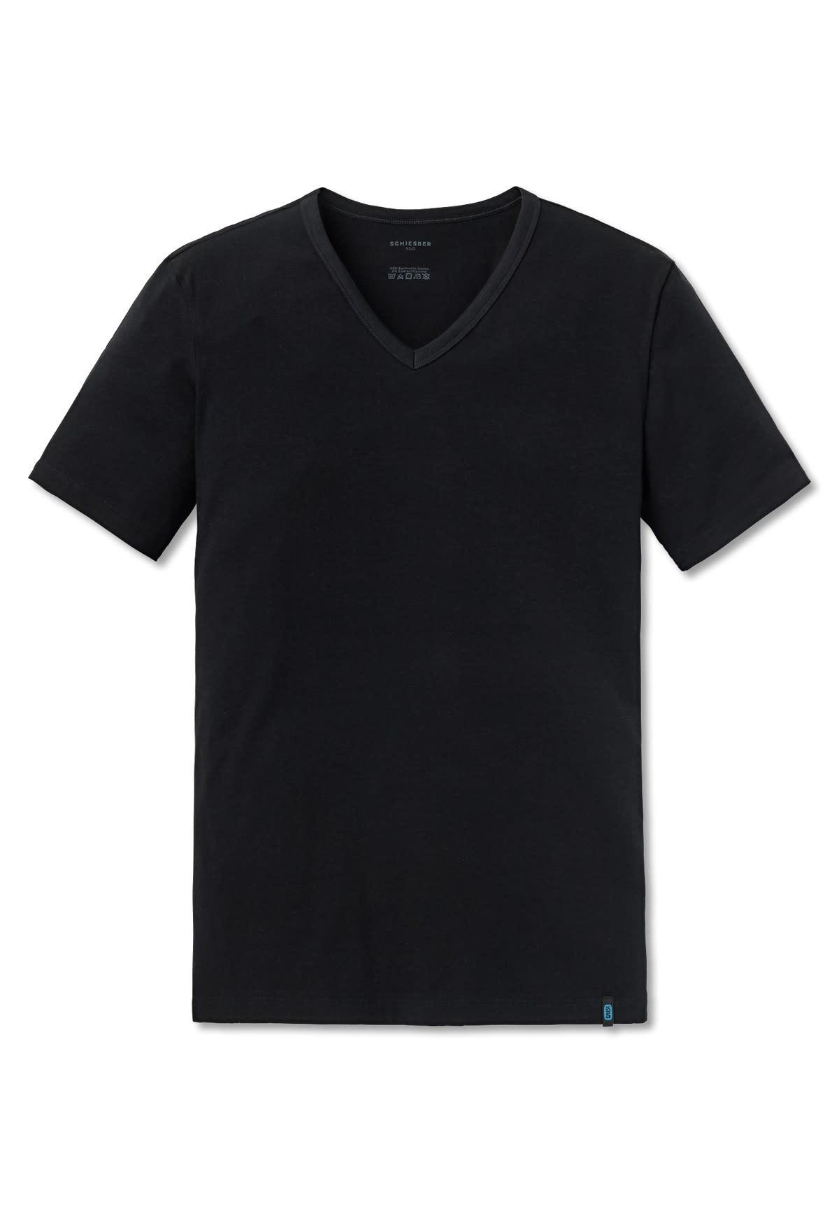 T-shirt v-hals 95/5 205429 - zwart-3