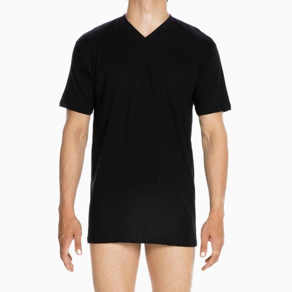 T-shirt v-hals Hilary 401556 - zwart-1