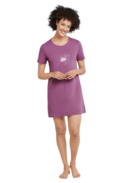 Nachthemd korte mouw 169488 - berry