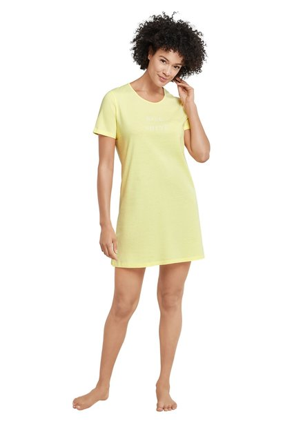 Nachthemd korte mouw 169488 - geel