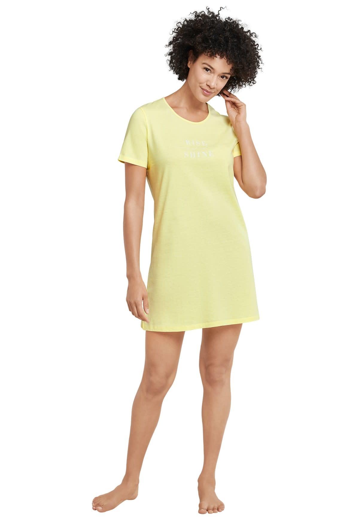 Nachthemd korte mouw 169488 - geel-1