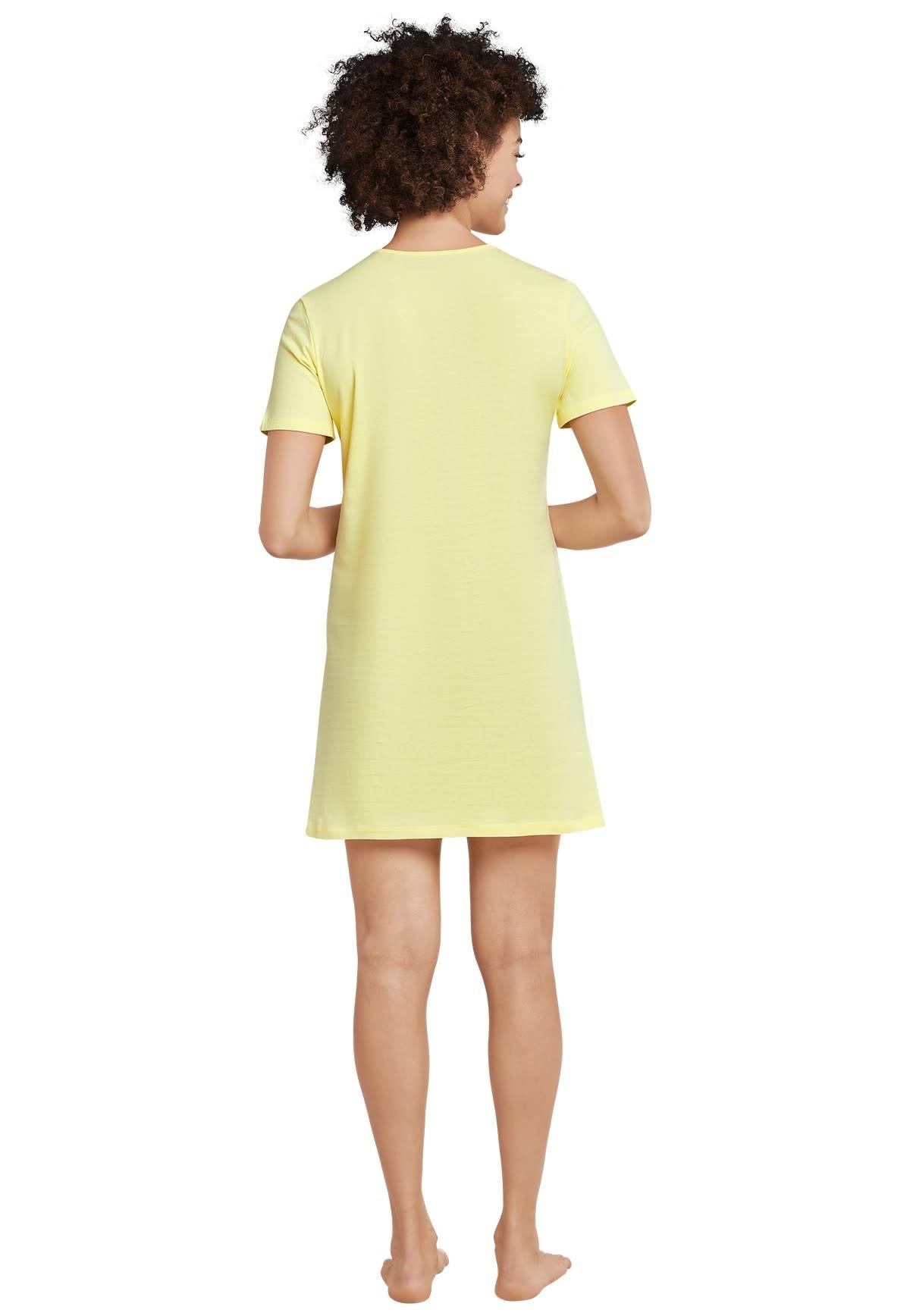Nachthemd korte mouw 169488 - geel-2