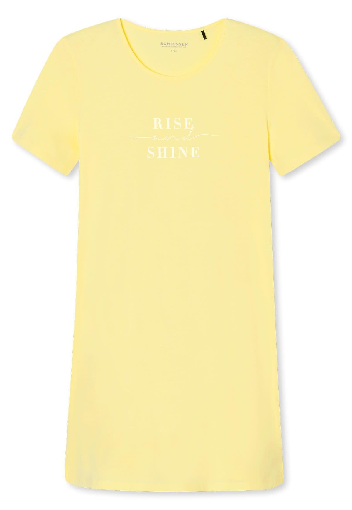 Nachthemd korte mouw 169488 - geel-3