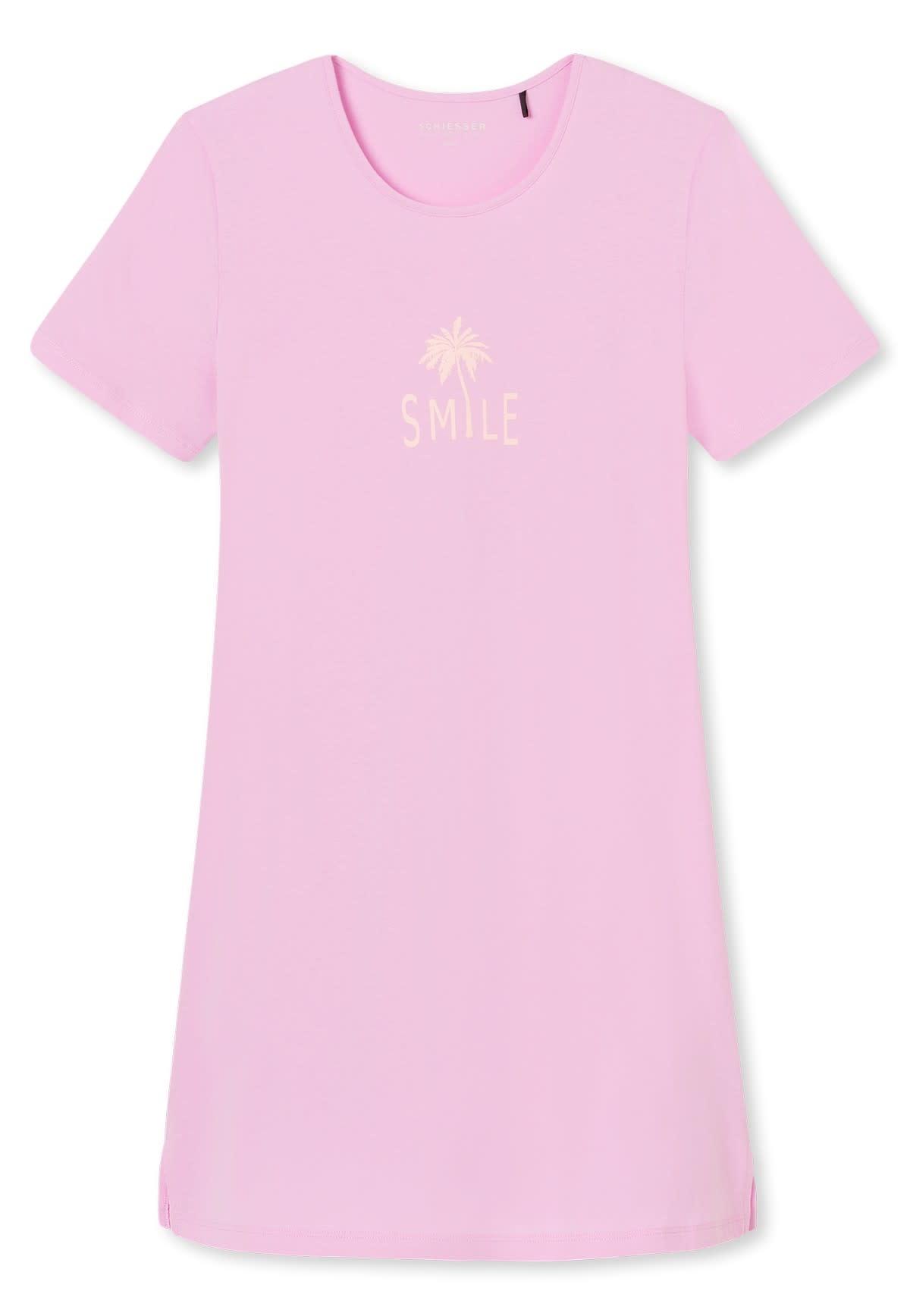 Nachthemd korte mouw 169488 - roze-3