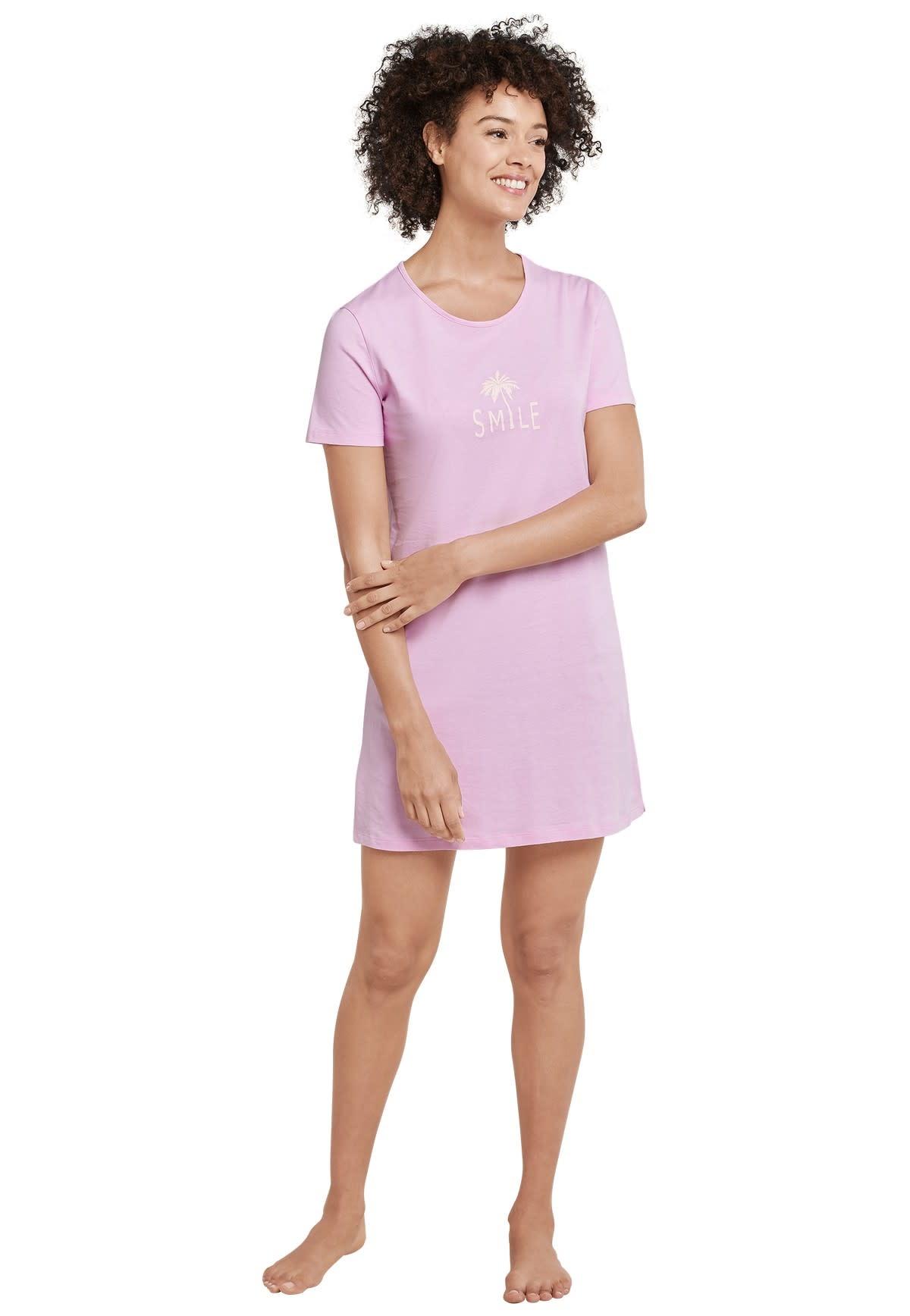 Nachthemd korte mouw 169488 - roze-1