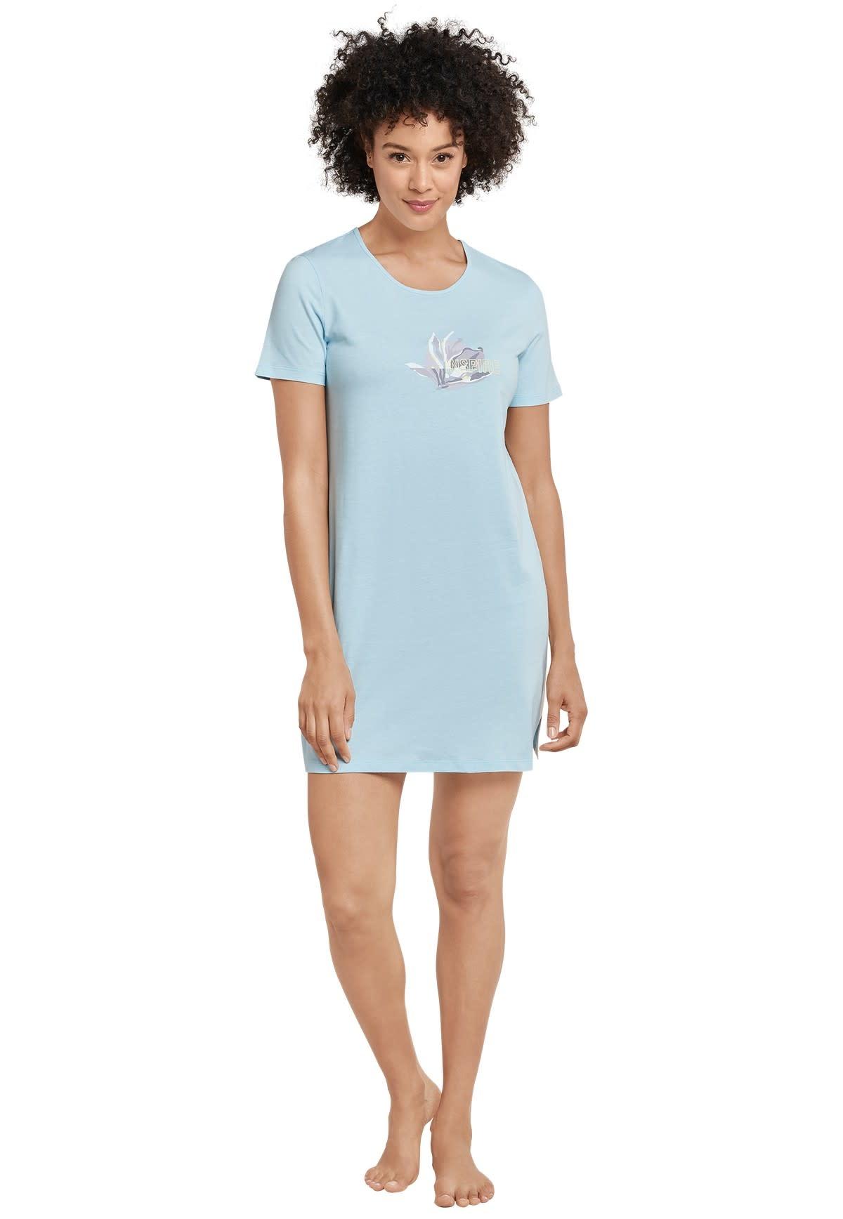 Nachthemd korte mouw 169488 - lichtblauw-1