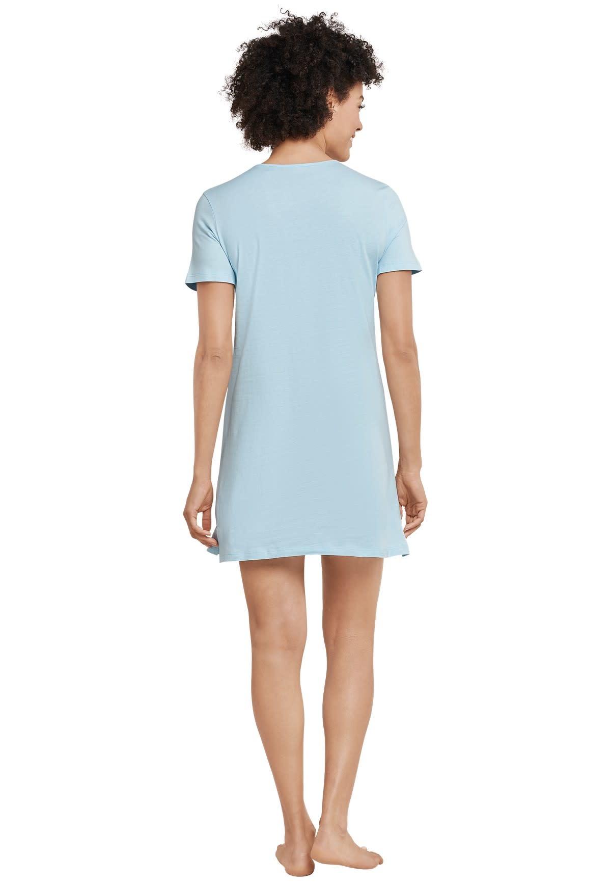 Nachthemd korte mouw 169488 - lichtblauw-2