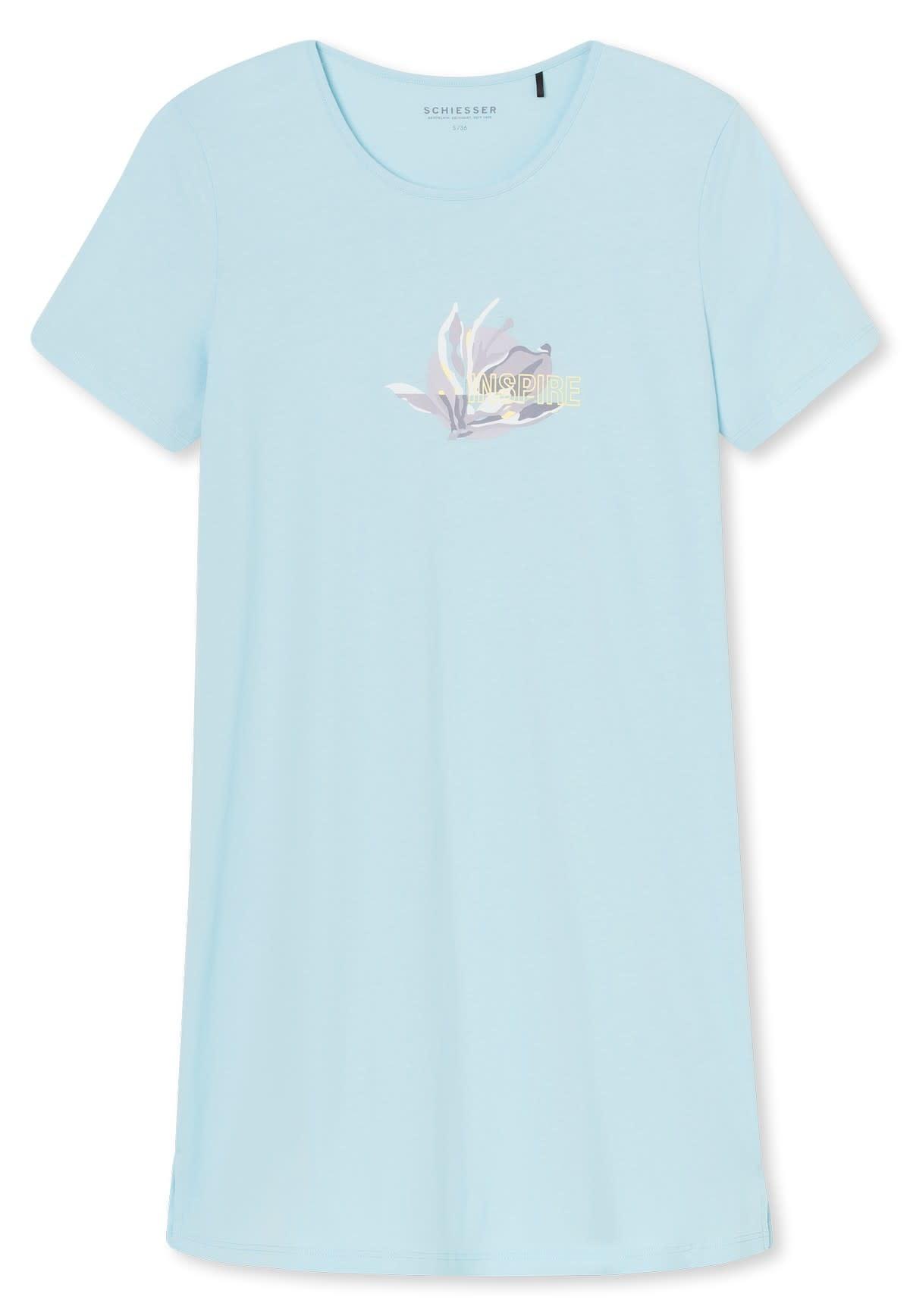 Nachthemd korte mouw 169488 - lichtblauw-3