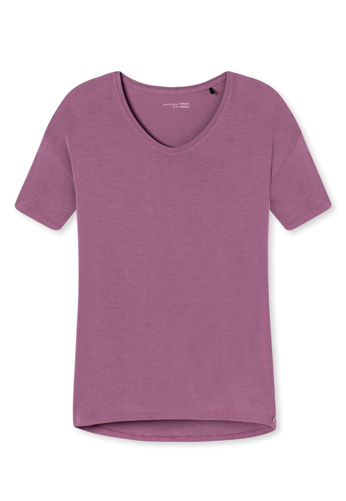 Shirt korte mouw Mix & Match 165664 - berry-3