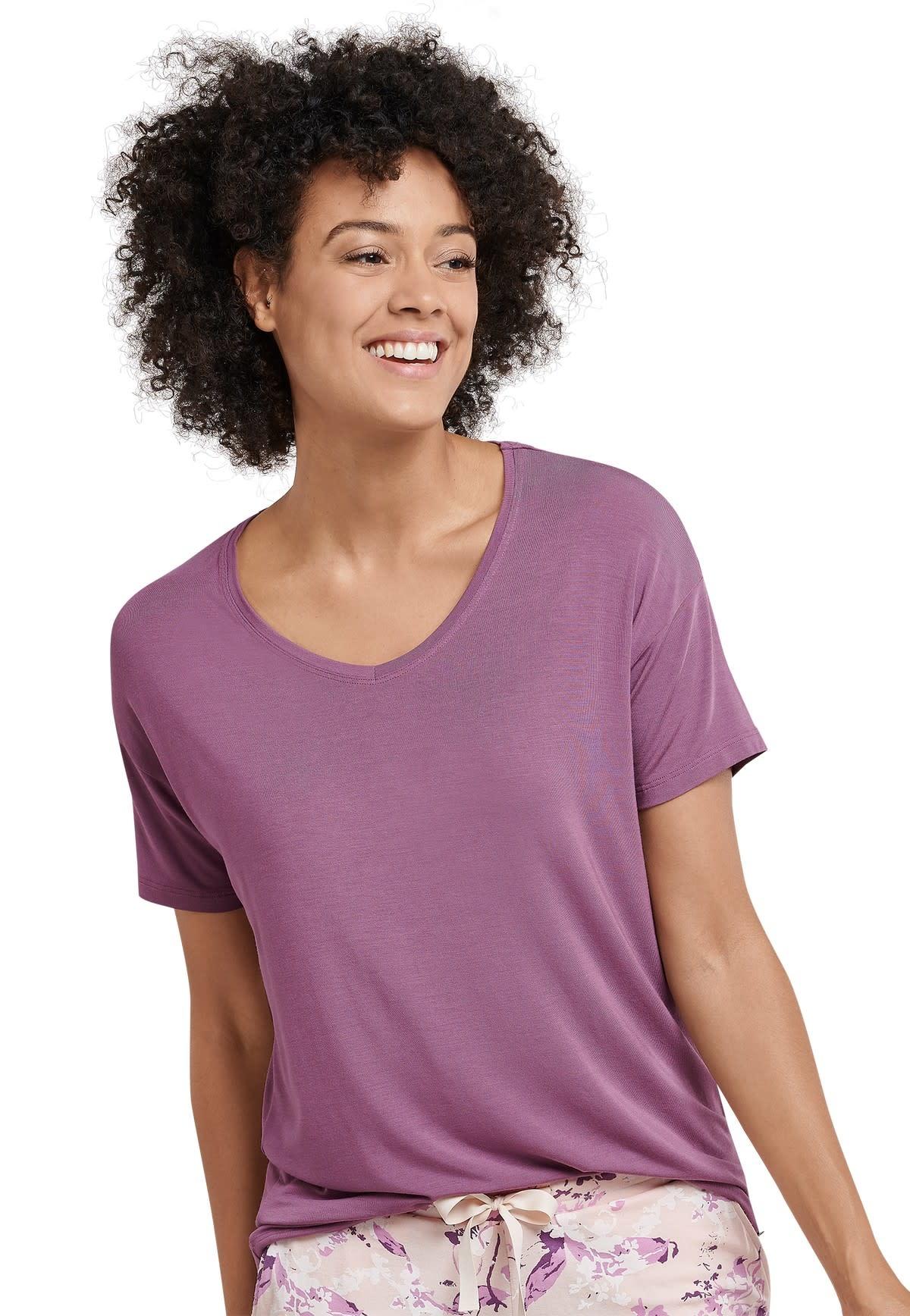 Shirt korte mouw Mix & Match 165664 - berry-1