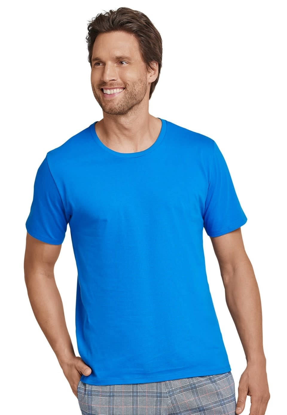 Shirt korte mouw Mix & Match 163832 - blauw-1