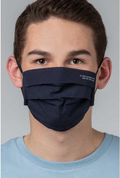 Heren mondmasker 39162 - donkerblauw