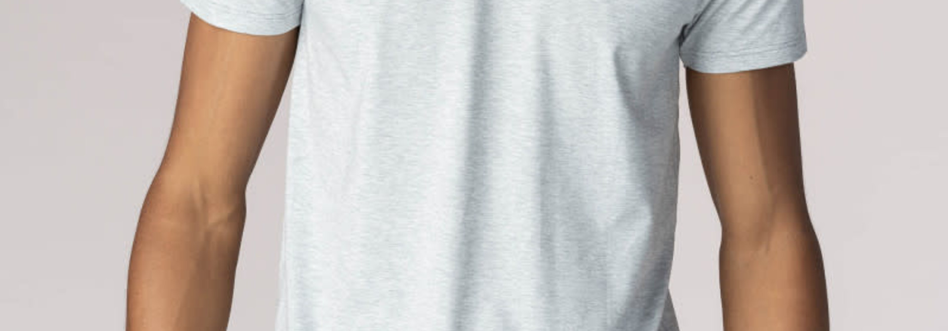 T-shirt ronde hals Dry Cotton 46502 - grijs