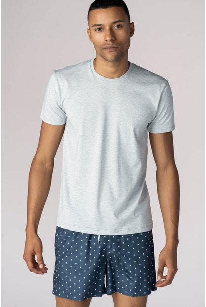 T-shirt ronde hals Dry Cotton 46502 - grijs mt. S, L