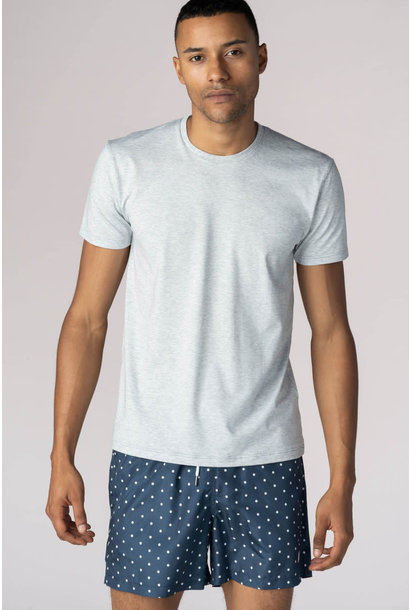 T-shirt ronde hals Dry Cotton 46502 - grijs