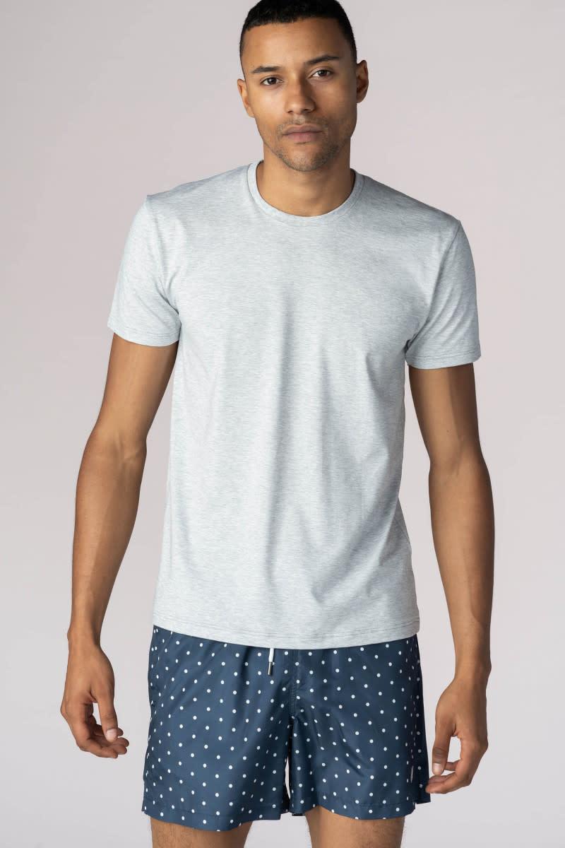 T-shirt ronde hals Dry Cotton 46502 - grijs-1