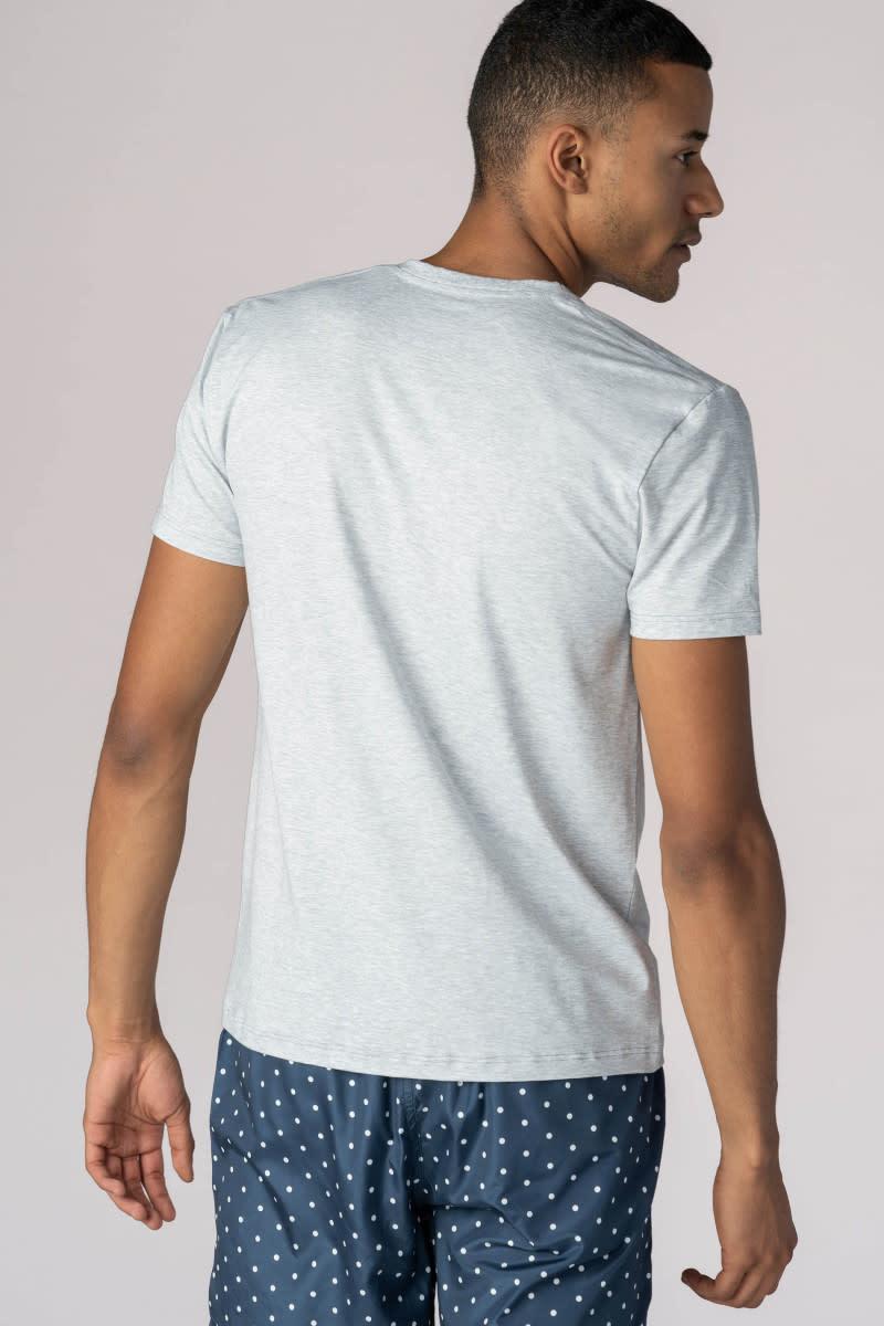 T-shirt ronde hals Dry Cotton 46502 - grijs-2