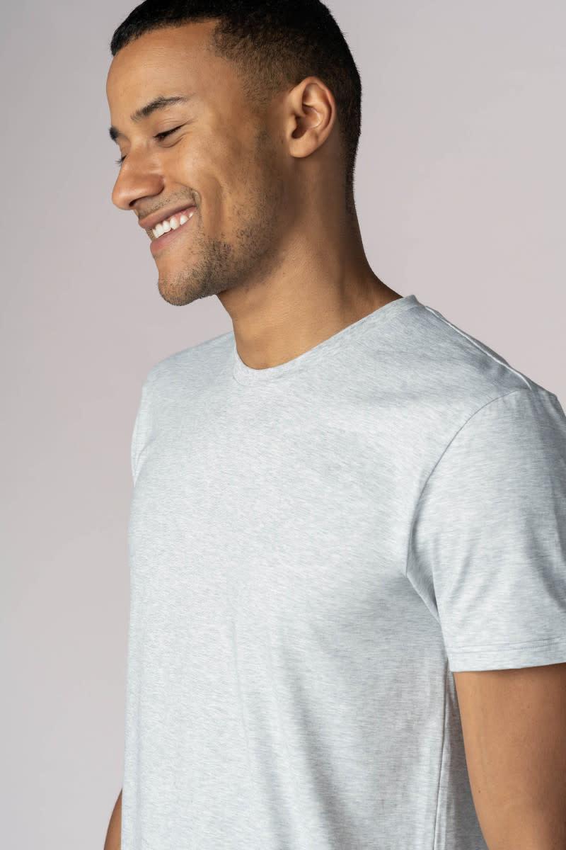 T-shirt ronde hals Dry Cotton 46502 - grijs-3