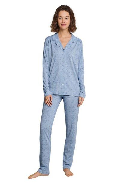 Pyjama doorknoop lange mouw 163045