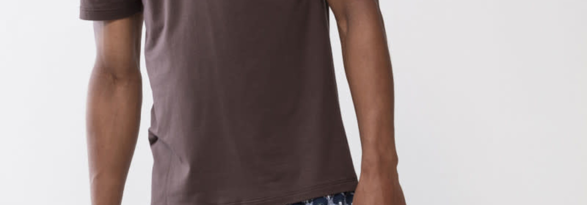 T-shirt ronde hals Dry Cotton 46502 - bruin