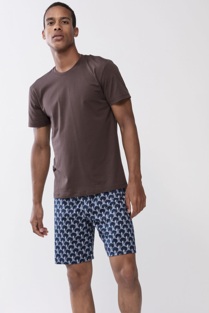 T-shirt ronde hals Dry Cotton 46502 - bruin-1