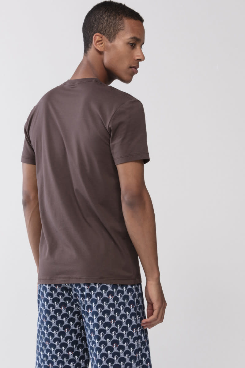 T-shirt ronde hals Dry Cotton 46502 - bruin-2