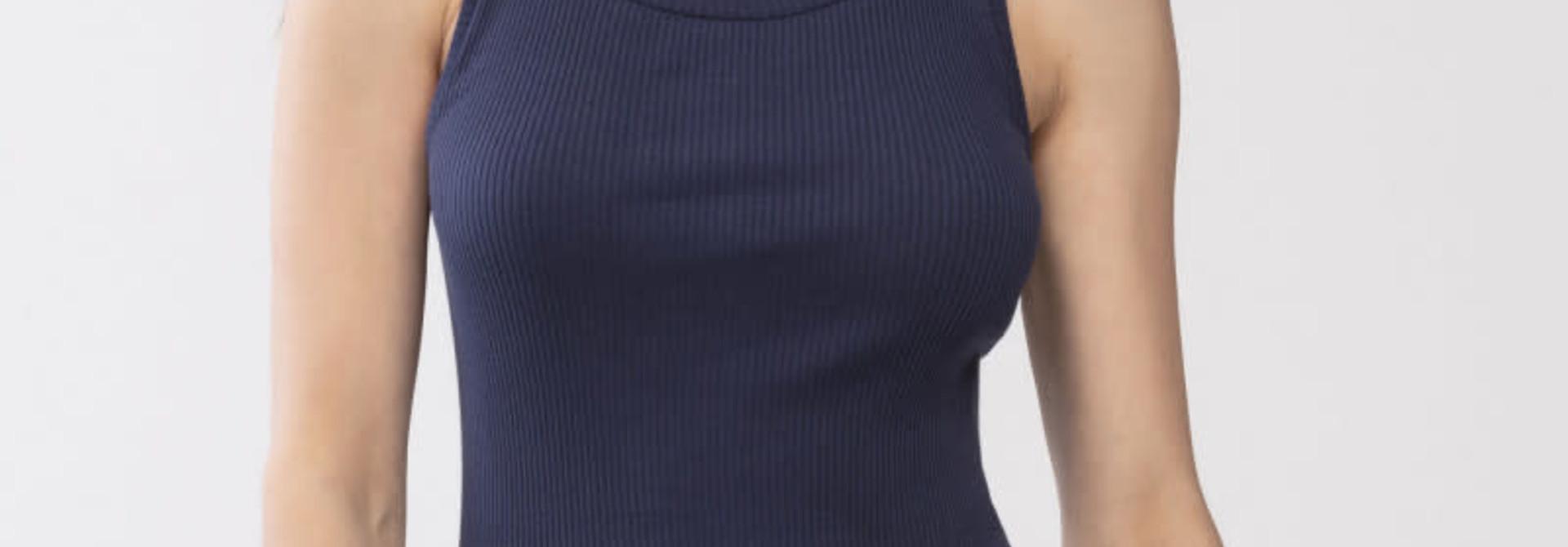 Hemd Cotton Rib 25516 - donkerblauw