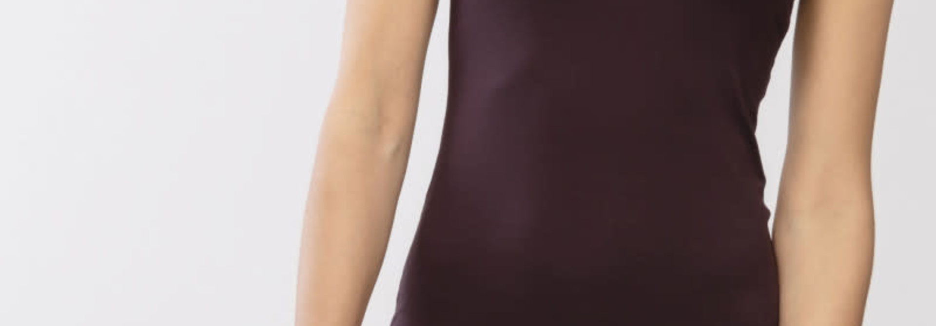 Hemd met kant Linea 45362 - bruin
