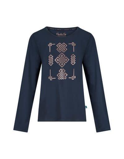 Pyjama lange mouw 37111 - donkerblauw/rood-2