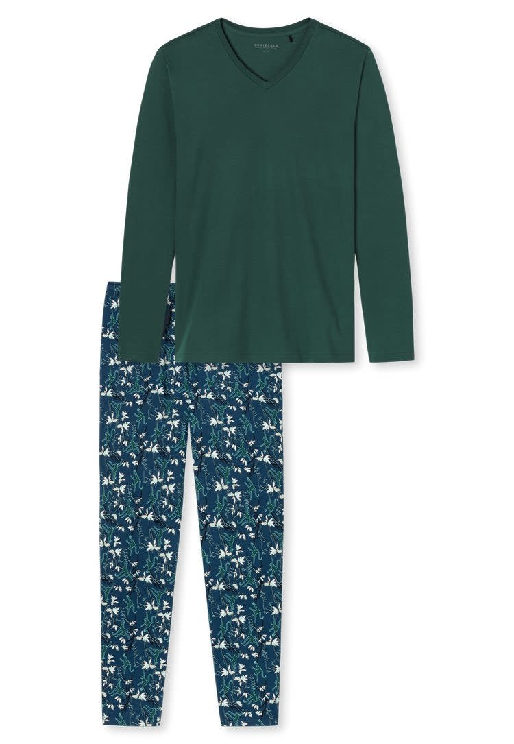 Pyjama lange mouw 171813 - groen-3