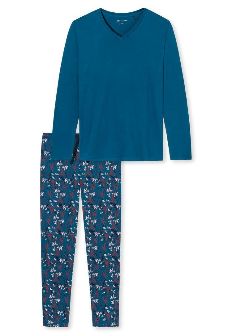 Pyjama lang 171813 - blauw-3