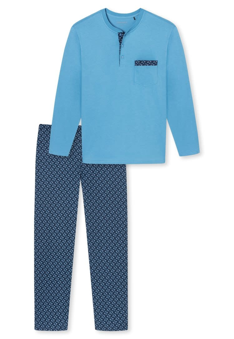 Pyjama lange mouw 171420 - lichtblauw-3