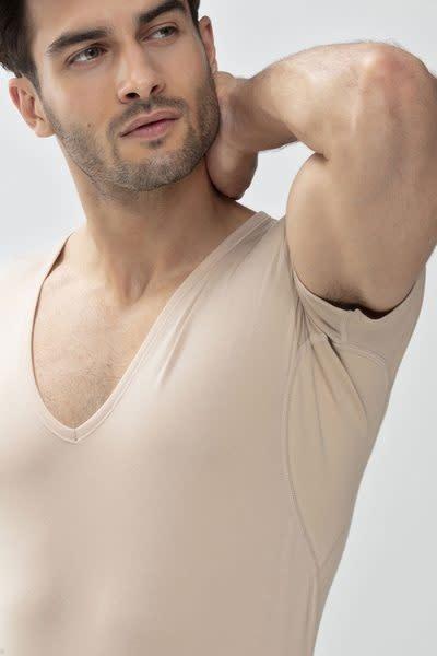 Business T-shirt diepe v-hals Dry Cotton 46038 - huid-3