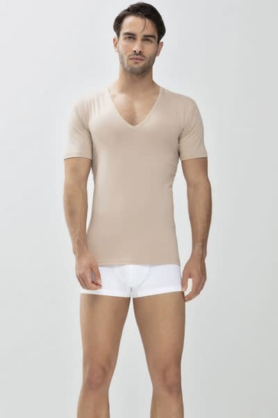 Business T-shirt diepe v-hals Dry Cotton 46038 - huid-1