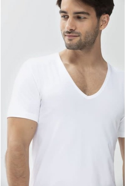 Business T-shirt diepe v-hals Dry Cotton 46038 - wit