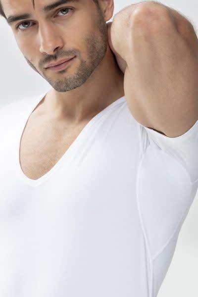 Business T-shirt diepe v-hals slim fit Dry Cotton 46098 - wit-3