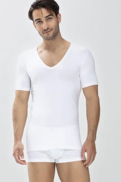 Business T-shirt diepe v-hals slim fit Dry Cotton 46098 - wit-1