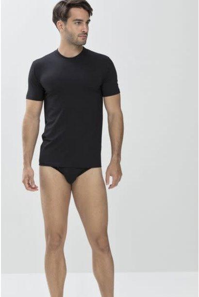 T-shirt hoge boord Dry Cotton 46003 - zwart