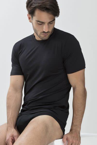 T-shirt hoge boord Dry Cotton 46003 - zwart-3