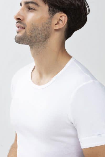 T-Shirt met ronde hals Noblesse 2802 - wit-3