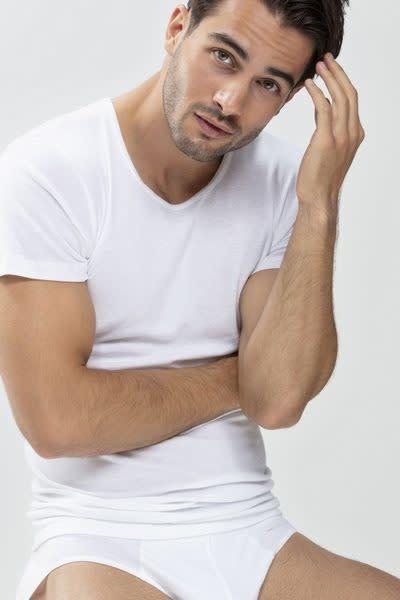 T-shirt ronde hals Casual Cotton 49002 - wit-3