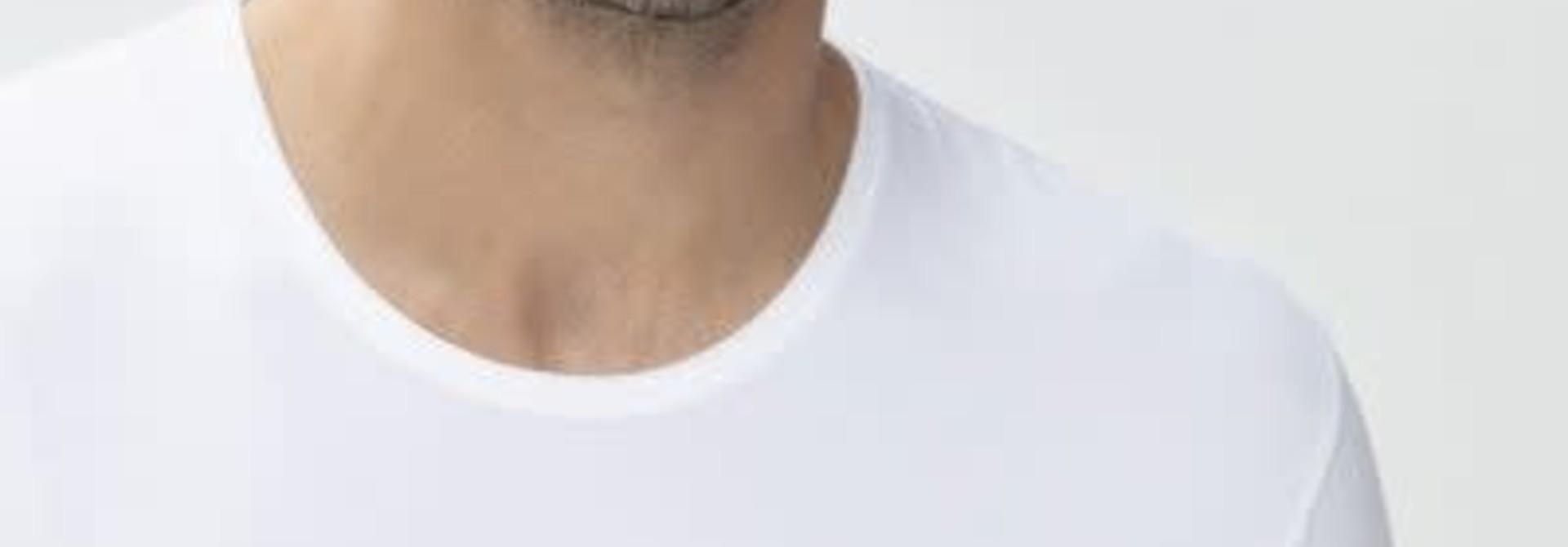 T-shirt ronde hals Dry Cotton 46002 - wit