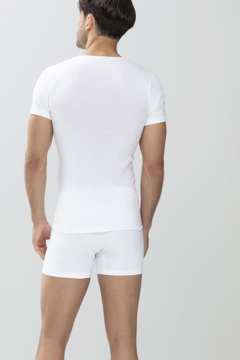 T-shirt v-hals Casual Cotton 49007 - wit-2
