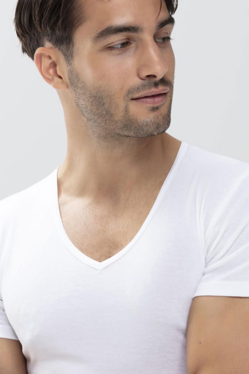T-shirt v-hals Casual Cotton 49007 - wit-3