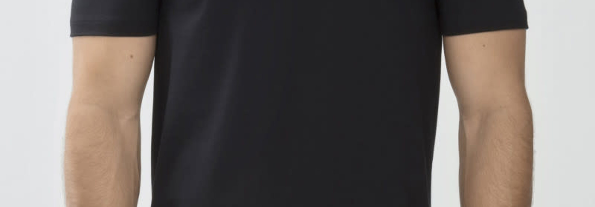 T-shirt v-hals Dry Cotton 46007 - zwart