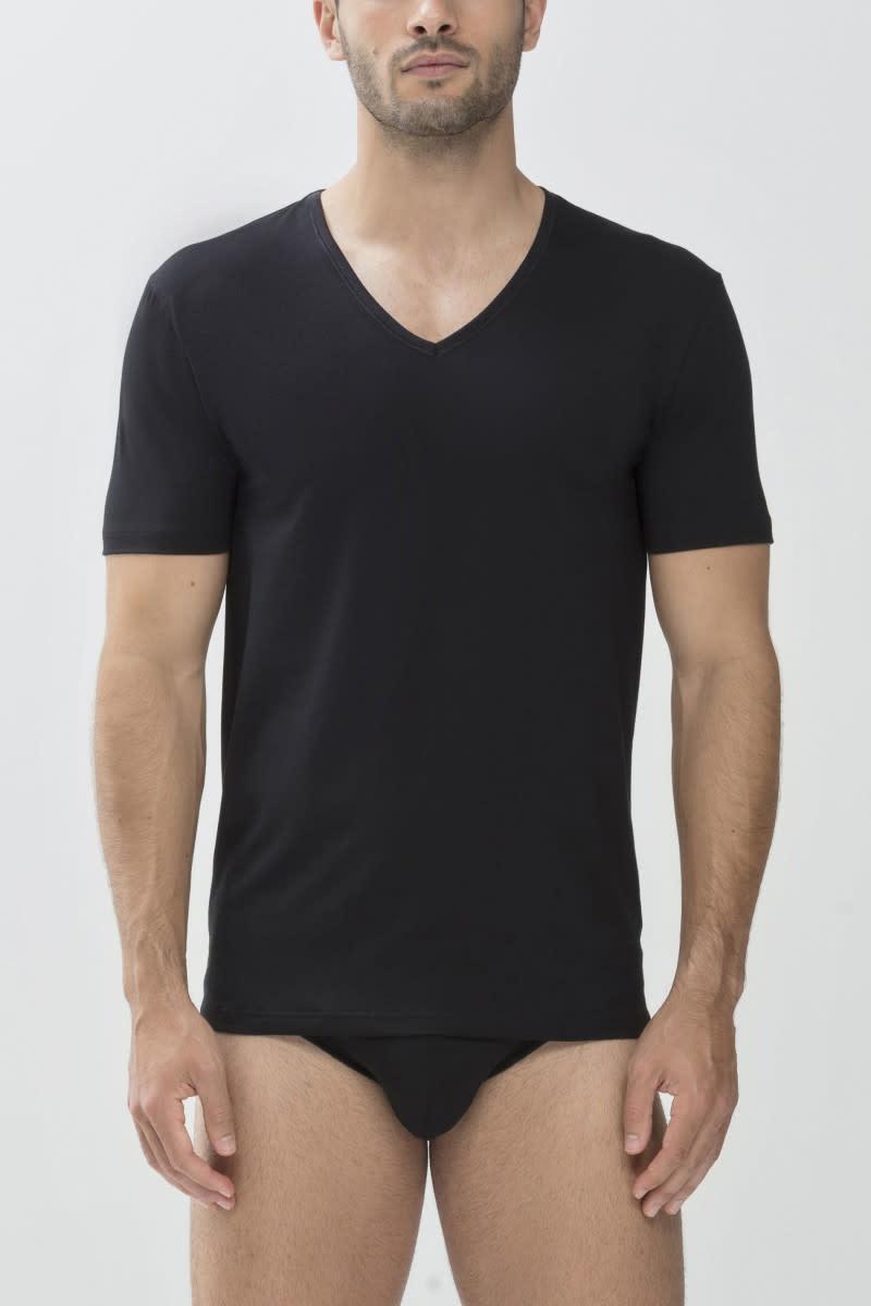 T-shirt v-hals Dry Cotton 46007 - zwart-1