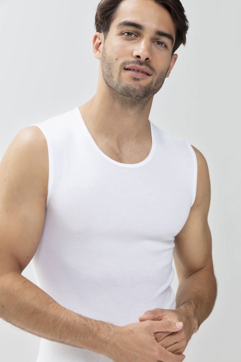 Tanktop ronde hals Casual Cotton 49001 - wit-1